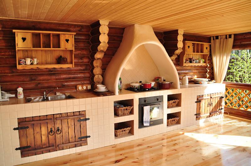 Интерьер летней кухни на даче фото