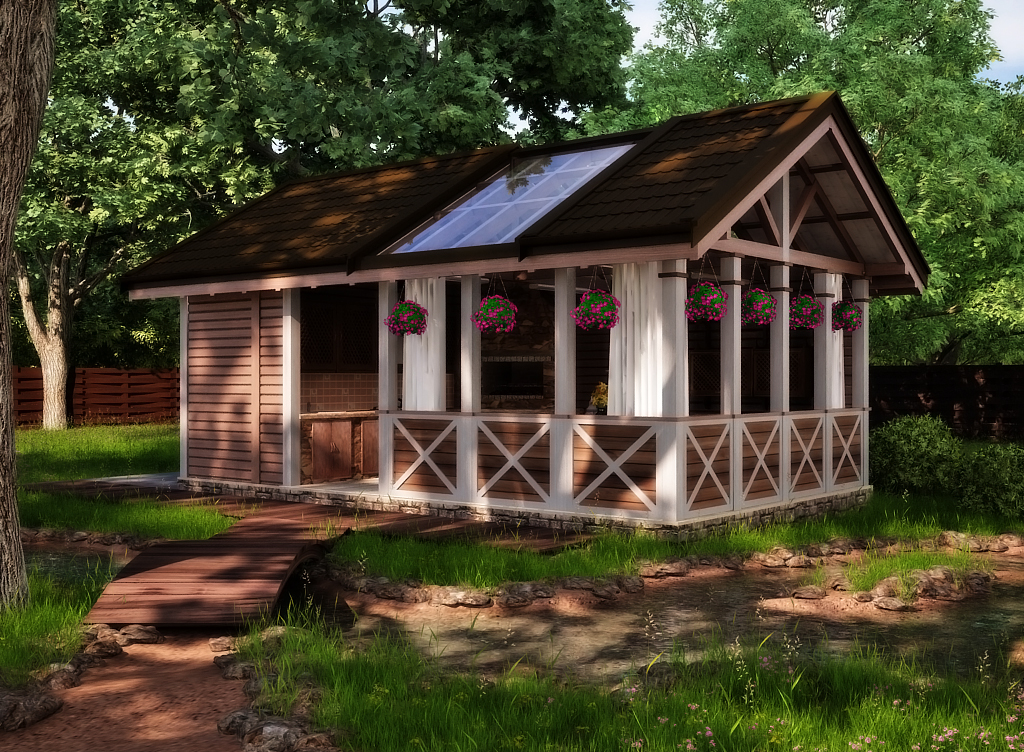Отдельная домик под летнюю кухню