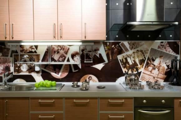 Стеклянная стеновая панель с фотопечатью