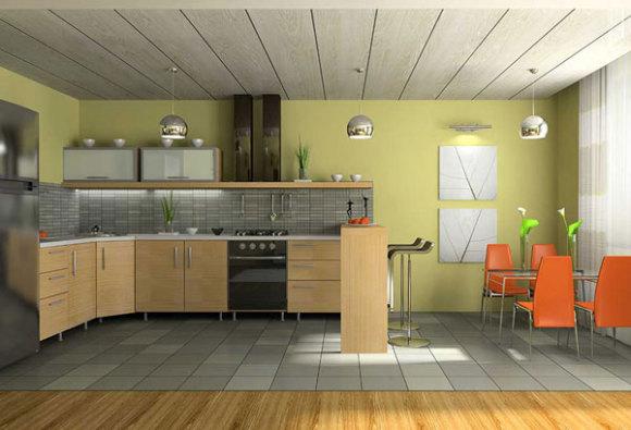 пластиковые панели для потолка кухни