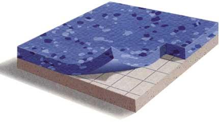 Гомогенный линолеум имеет однородный состав по всей своей толщине