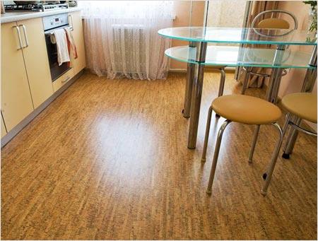 Пробковый пол на кухне обойдется подороже
