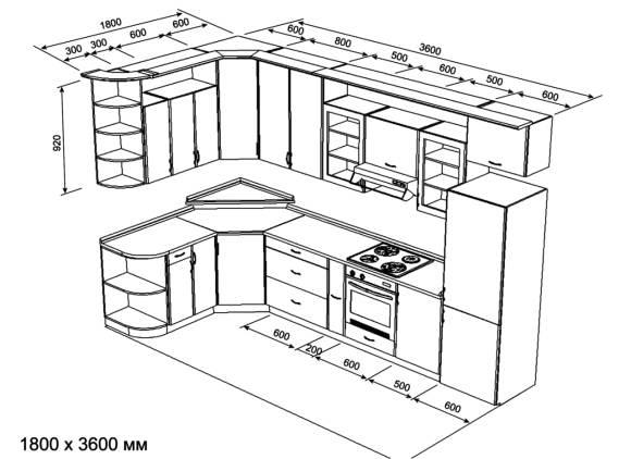 ремонт на кухне следует начать с дизайн-проекта
