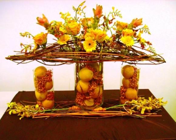 на итальянской кухне уместен декор из сухоцвета