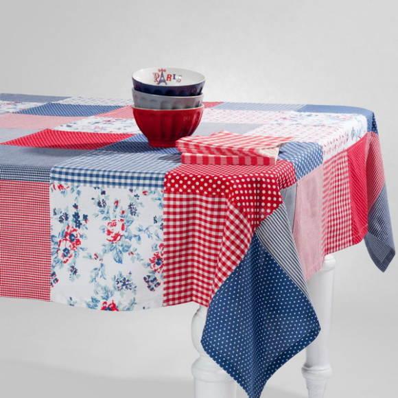 лоскутная скатерть для кухонного стола