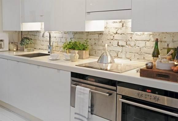 декоративный камень на кухне