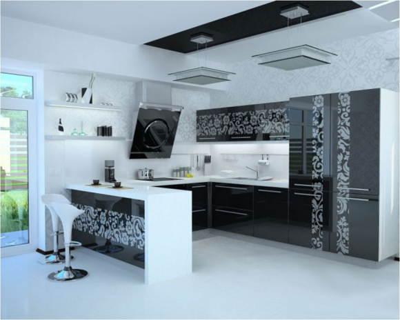 Фотопечать на кухонном фасаде
